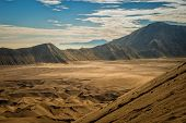 stock photo of bromo  - Sand sea viewed from Mount Bromo Indonesia - JPG
