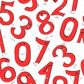 Texture  Of Cartoon Numbers