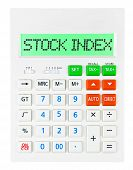 Calculator With Stock Index