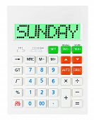 Calculator With Sunday