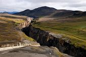 Karahnjúkar Dam - Canyon Of The River On Iceland