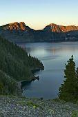 Moonlight over lake