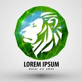 lion vector logo design template. animal or Zoo icon.