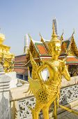 Statue in Royal Palace and Wat Phra Kaeo Complex in Bangkok, Thailand