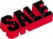 sale, illustration, 3D shape