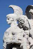 Statue on Victor Emmanuel II Bridge in Rome