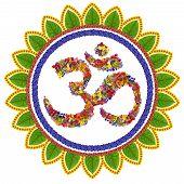 Isolated Om Sanskrit Symbol