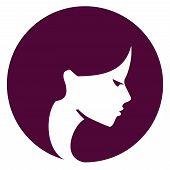 Beautiful girl vector logo design template. Spa or beauty salon icon.