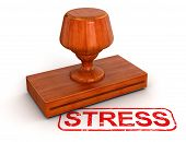 Rubber Stamp stress  (clipping path included)