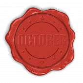 Wax Stamp october (clipping path included)