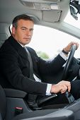 Businessman In Car.