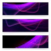 Web Neon Swoosh Line Bright Header Set