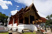 Old wooden church of Wat Lok Molee Chiang mai Thailand