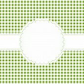 picture of bordure  - background with checkered pattern and empty white banner - JPG