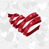 red heart shape ribbon