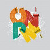 roller brush alphabet font