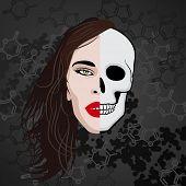 half face human skull