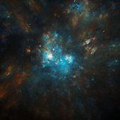 colorful cosmic nebula illustration