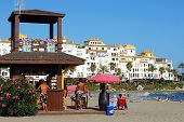 Snack bar on the beach, Marbella.