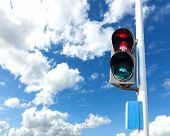 Red Color On The Traffic Light For Pedestrian, Concept Photo.