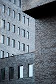 Walls Of Modern Dark Brick Office