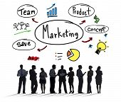 Marketing Strategy Team Business Commercial Advertising Concept