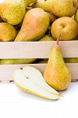 Pears In Wooden Crate
