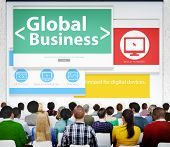 Global Business Commerce Organization Seminar Conference Learning Concept