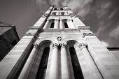 picture of ferrara  - Unfinished bell tower of Romanesque Ferrara Cathedral in Emilia Romagna region of Italy - JPG