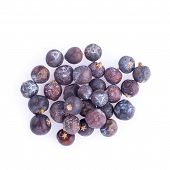 Juniper Berries Isolated On A White Background