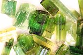 Green Gem Mineral As Nice Natural Background
