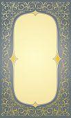 Floral gold decorative frame in eps10 format