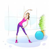 Sport woman fitness girl exercise workout trainer