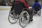 The Invalid Person On The Wheelchair