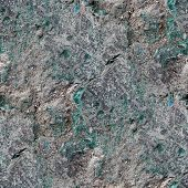 seamless green gray texture of old stone wall with crack backgro