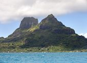 View on mountain Otemanu . Polynesia .