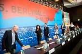 BERLIN, GERMANY - FEBRUARY 13: 'Cinderella' press conference, 65th Berlinale International Film Festival at Grand Hyatt Hotel on February 13, 2015 in Berlin, Germany