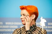 BERLIN, GERMANY - FEBRUARY 13: Sandy Powell attends the 'Cinderella' press conference during the 65th Berlinale International Film Festival at Grand Hyatt Hotel on February 13, 2015 in Berlin, Germany