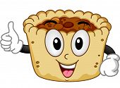 picture of bakeshop  - Mascot Illustration of a Butter Tart Giving a Thumbs Up - JPG