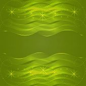 Abstract Green Wavy Background Vector