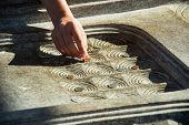 foto of coin slot  - Human Hand Trying To Put A Coin In The Slot Edge - JPG