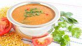 image of indian food  - Lentil curry or sambar - JPG