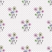 pic of dots  - Seamless floral polka dot background - JPG
