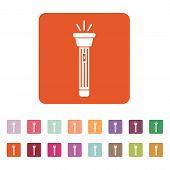 stock photo of torches  - The flashlight icon - JPG