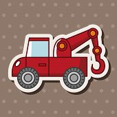 pic of towing  - Transportation Tow Truck Theme Elements - JPG
