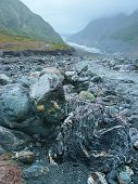 pic of rain  - In summer Fox Glacier Valley New Zealand sees rains frequently - JPG