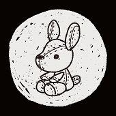 pic of rabbit year  - Rabbit Doll Doodle - JPG