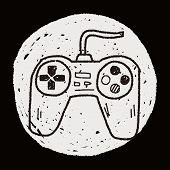 image of controller  - Game Controller Doodle - JPG