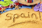 picture of sombrero  - Spanish beach summer vacation - JPG