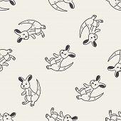 stock photo of kangaroo  - Kangaroo Doodle - JPG